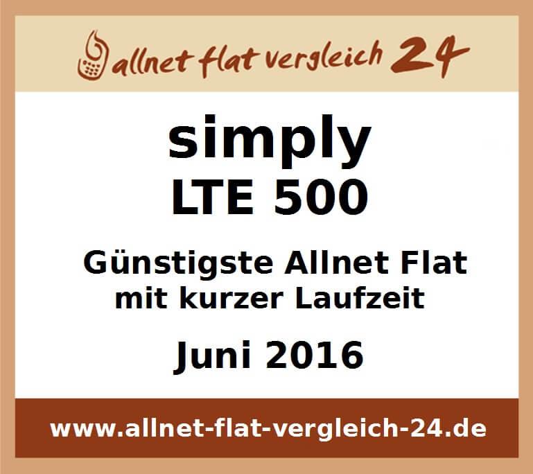 LTE 500 - günstigste Allnet Flat mit kurzer Laufzeit