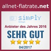 Anbieter des Jahres 2016 - allnet-flatrate.net