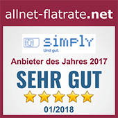 Anbieter des Jahres 2017 - allnet-flatrate.net
