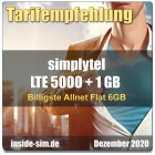 Billigste Allnet Flat 6 GB - inside-sim.de