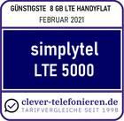Günstigste 8 GB LTE Handyflat LTE 5000 - clever-telefonieren.de