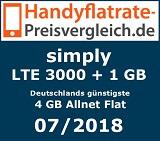 LTE 3000 + 1 GB - Handyflatrate-Preisvergleich.de